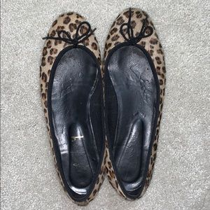 French Sole New York leopard ballet flats
